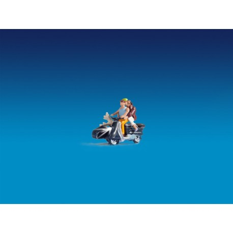 NOCH 17515 - Motorradfahrer, beleuchtet