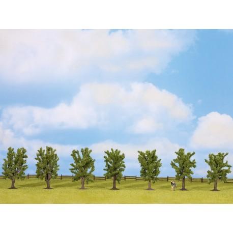 NOCH 25088 - Laubbäume, 7 Stück, ca. 8 cm hoch