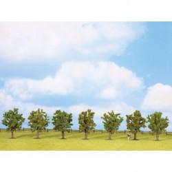 NOCH 25090 - Obstbäume, grün, 7 Stück, ca. 8 cm hoch