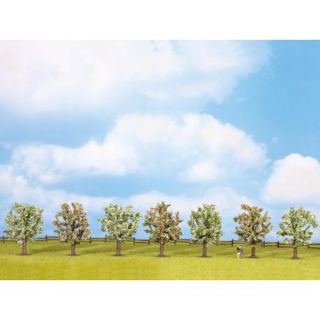 NOCH 25092 - Obstbäume, blühend, 7 Stück, ca. 8 cm hoch