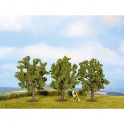 NOCH 25110 - Obstbäume, grün, 3 Stück, 8 cm hoch