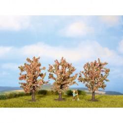NOCH 25112 - Obstbäume, rosa blühend, 3 Stück, 8 cm hoch