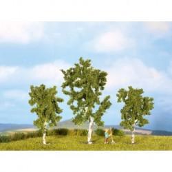 NOCH 25120 - Birken, 3 Stück, 8 und 10 cm hoch