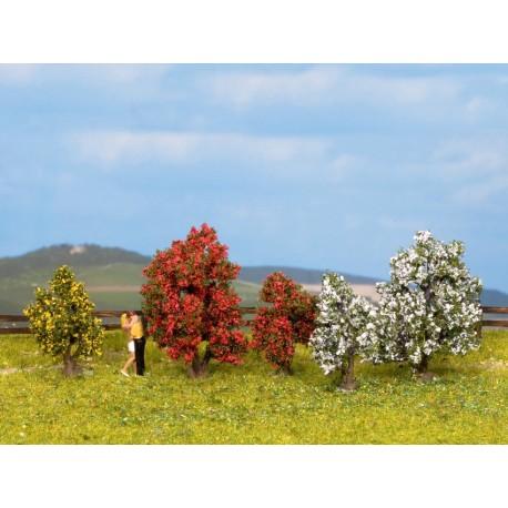 NOCH 25420 - Sträucher, blühend, 5 Stück, 3 - 4 cm hoch
