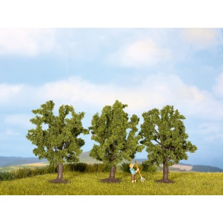 NOCH 25510 - Obstbäume, grün, 3 Stück, 4,5 cm hoch