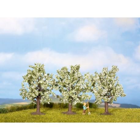 NOCH 25511 - Obstbäume, weiß blühend, 3 Stück, 4,5 cm hoch
