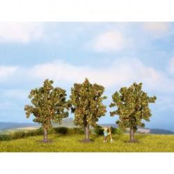 NOCH 25513 - Apfelbäume, 3 Stück, 4,5 cm hoch