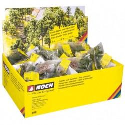 NOCH 25950 - Laubbäume, mit Baumfüßen, 100 Stück sortiert, Classic-Serie