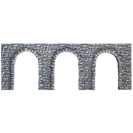 NOCH 34942 - Arkadenmauer, offen, 19 x 9 cm