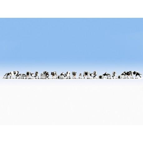 """NOCH 37161 - Figuren-Set XL """"Kühe, schwarz-weiß"""""""