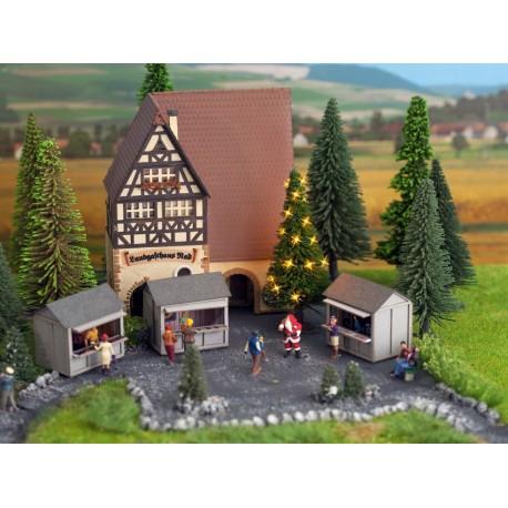 NOCH 43811 - Grüne Weihnacht, Christbaum beleuchtet