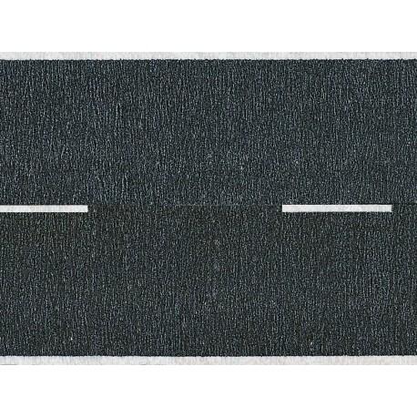 NOCH 44150 - Teerstraße, schwarz, 100 x 2,5 cm (mit unterbrochener Mittellinie)