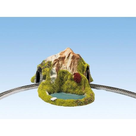 NOCH 44670 - Tunnel, 1-gleisig, gebogen, 17 x 13 cm