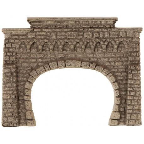 NOCH 44820 - Tunnel-Portal, 2-gleisig, 8,5 x 6,5 cm