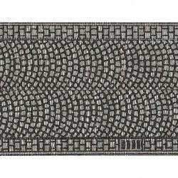 NOCH 48430 - Kopfsteinpflaster, 100 x 5 cm (aufgeteilt in 2 Rollen)