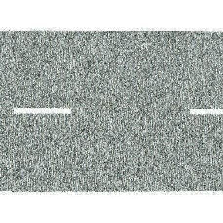 NOCH 48470 - Bundesstraße, grau, 100 x 4,8 cm (aufgeteilt in 2 Rollen)