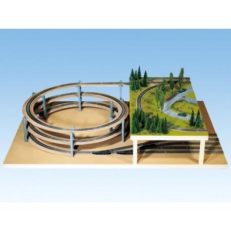 NOCH 53101 - LAGGIES Gleiswendel-Komplettbausatz, Aufbaukreis, Gleisradius 360 mm, 1- gleisig