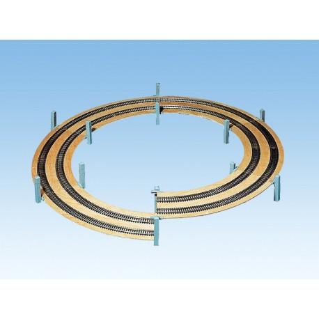 NOCH 53127 - LAGGIES Gleiswendel-Komplettbausatz, Aufbaukreis, Gleisradius 329/362 mm, 1- oder 2-gleisig