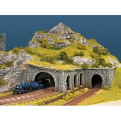 NOCH 58248 - Tunnel-Portal, 2-gleisig, 23,5 x 13 cm