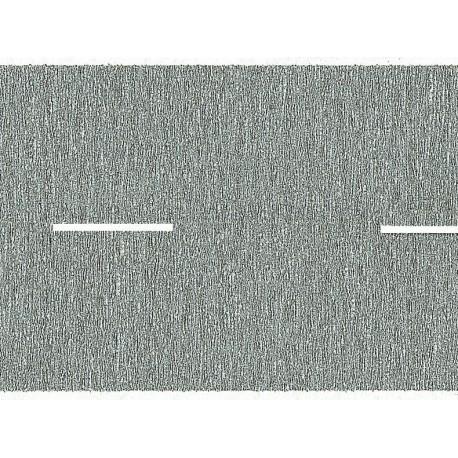 NOCH 60610 - Landstraße, grau, 200 x 4,8 cm (aufgeteilt in 2 Rollen)