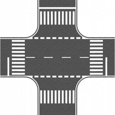 NOCH 60712 - Kreuzung, Asphalt, 22 x 22 cm