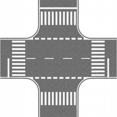 NOCH 60714 - Kreuzung, grau, 22 x 22 cm
