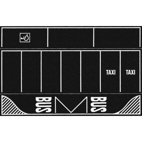 NOCH 60718 - Parkplatz, Asphalt, 2 Stück, je 22 x 14 cm