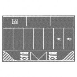 NOCH 60720 - Parkplatz, grau, 2 Stück, je 22 x 14 cm