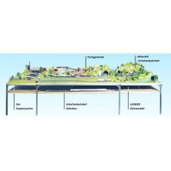 NOCH 62151 - Schattenbahnhof-Unterbau, 150 x 115 cm