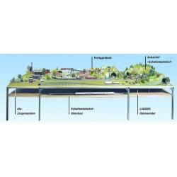 NOCH 62161 - Schattenbahnhof-Unterbau, 160 x 115 cm