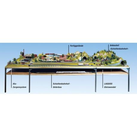 NOCH 62211 - Schattenbahnhof-Unterbau, 135 x 100 cm