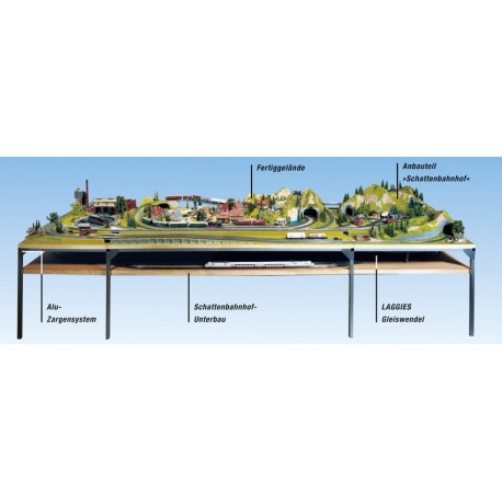 NOCH 62241 - Schattenbahnhof-Unterbau, 220 x 37,5 cm