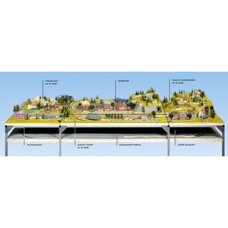 NOCH 62370 - Schattenbahnhof-Unterbau, 95 x 69 cm