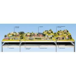 NOCH 62461 - Schattenbahnhof-Unterbau, 160 x 95 cm
