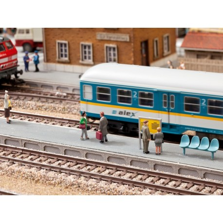 NOCH 66010 - Universal-Bahnsteig, 3er-Set