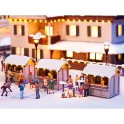NOCH 66412 - Weihnachtsmarktbuden