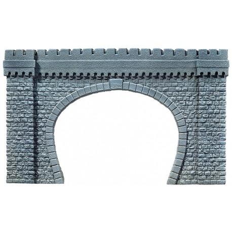 NOCH 67360 - Tunnel-Portal, 2-gleisig, 64 x 37 cm