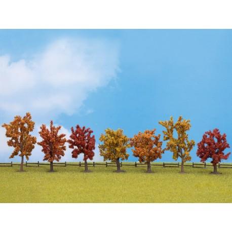 NOCH 25070 - Herbstbäume, 7 Stück, ca. 8 - 10 cm hoch