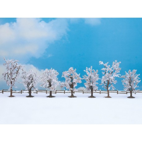 NOCH 25075 - Winterbäume, 7 Stück, 8 - 10 cm hoch
