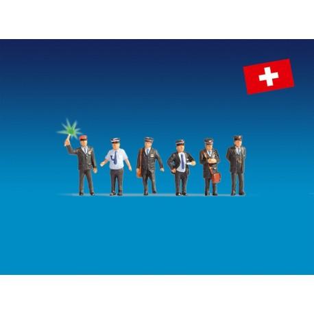 NOCH 17541 - Bahnbeamte Schweiz, beleuchtet