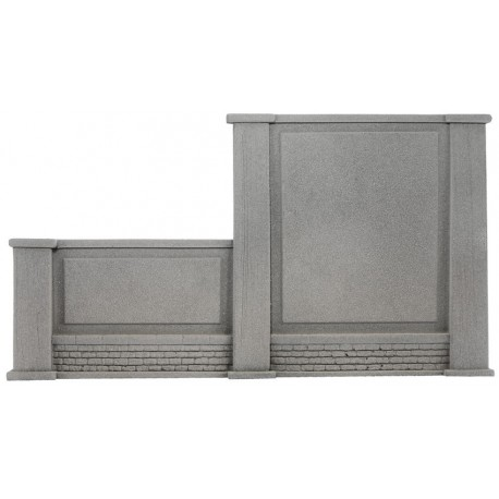 NOCH 58088 - Mauer, links abgestuft, 20,5 x 12,5 cm