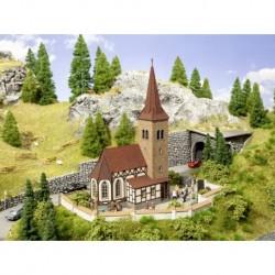 """NOCH 63906 - Kirche """"St. Georg"""" mit micro-sound Glockenläuten"""